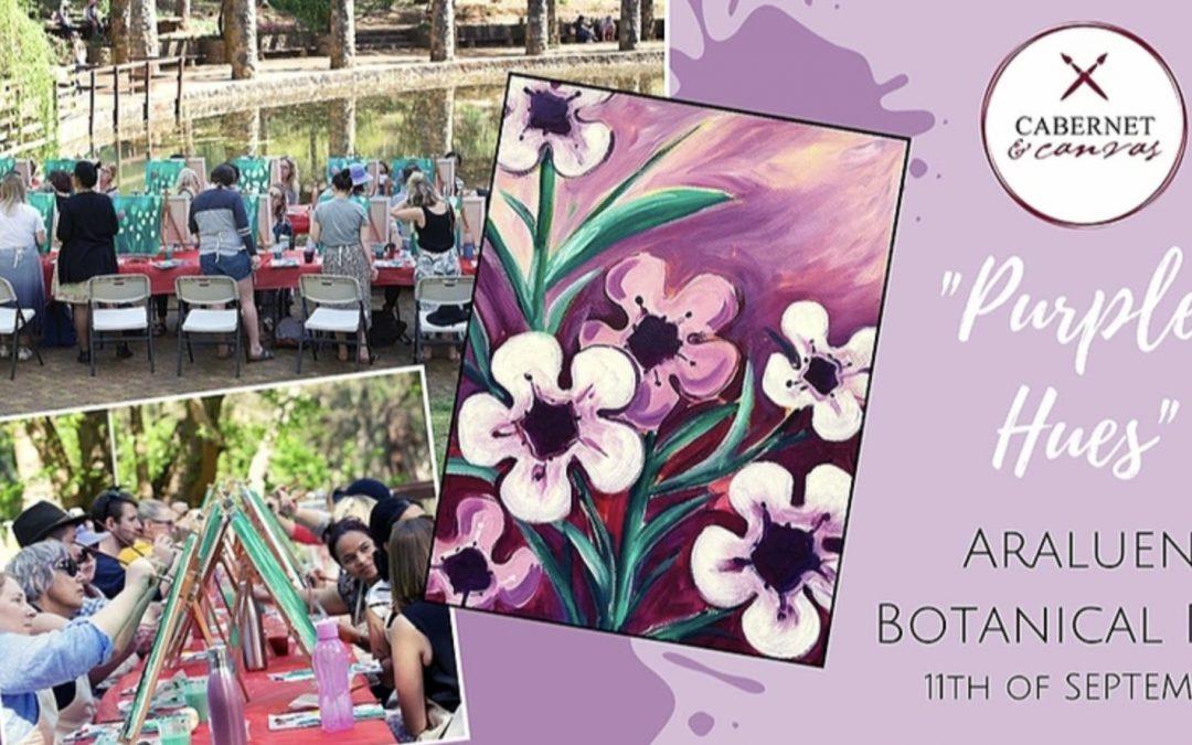 Paint & Sip at Araluen Botanical Park: Purple Hues